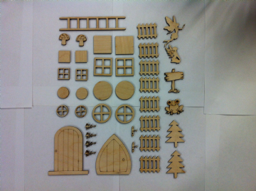 Fairy Hobbit Elf Door Window Accessories 41 piece Mega Craft Pack